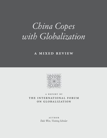 china report with cover - International Forum on Globalization