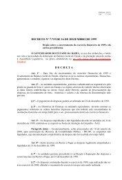 7.719 - Secretaria da Fazenda do Estado da Bahia