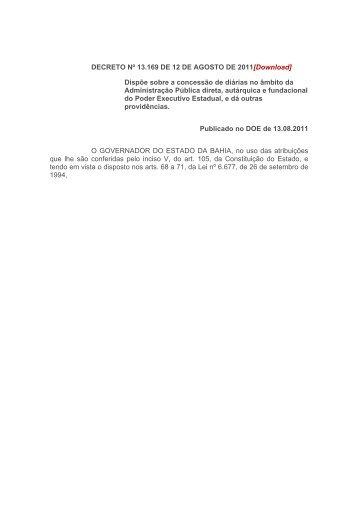 13.169 - Secretaria da Fazenda do Estado da Bahia