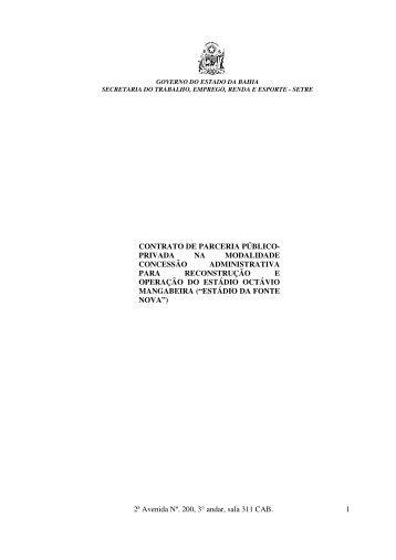 Contrato - Secretaria da Fazenda do Estado da Bahia - Governo da ...