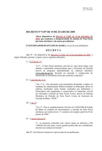 9.497 - Secretaria da Fazenda do Estado da Bahia