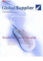Download Global Supplier Magazin [Ausgabe 02/2001] - Daimler