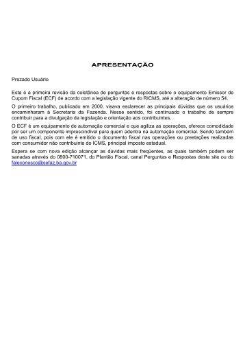 nova_cartilhaecf. - Secretaria da Fazenda do Estado da Bahia