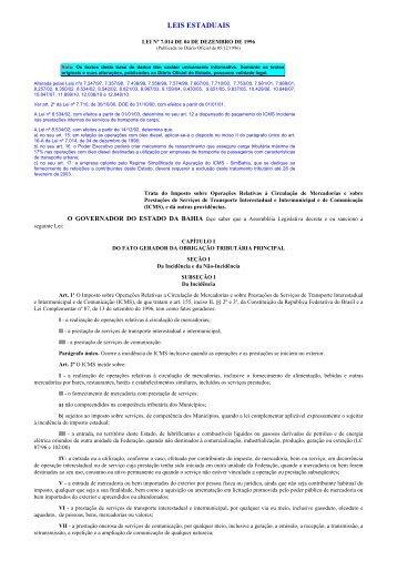 Imprimindo - Lei do ICMS - sem notas - Secretaria da Fazenda do ...