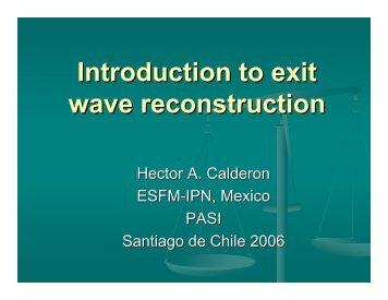 Exit wave reconstruction - CIASEM.com!