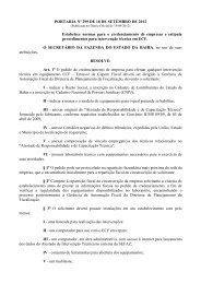 PORTARIA Nº 299 DE 18 DE SETEMBRO DE 2012 ... - Sefaz BA