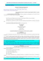 Regimento Interno do Conselho de Fazenda Estadual ... - Sefaz BA