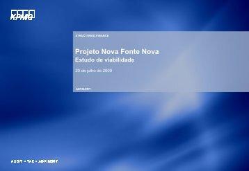 Projeto Nova Fonte Nova Estudo de viabilidade - Secretaria da ...