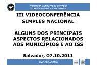 III Videoconferência Estadual sobre o Simples Nacional - Sefaz BA