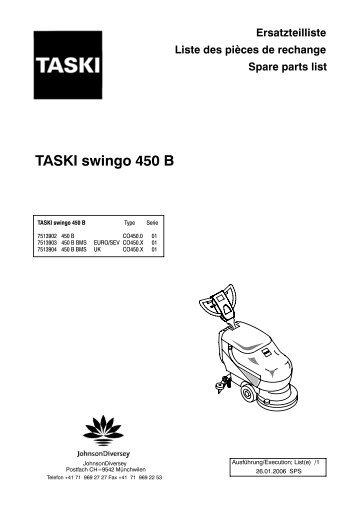 Ersatzteilliste Liste des pièces de rechange Spare parts list TASKI ...