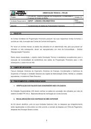 ORIENTAÇÃO TÉCNICA – FIPLAN Projeto FIPLAN-BA - Sistema ...