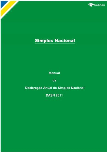 Manual da Declaração Anual do Simples Nacional ... - Sefaz BA