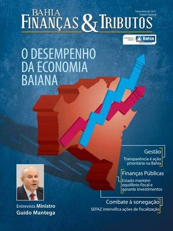 O DESEMPENHO DA ECONOMIA BAIANA - Sefaz BA