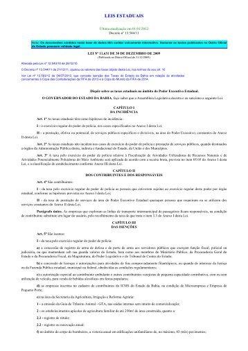 Imprimindo - Legislação Estadual - Sefaz BA