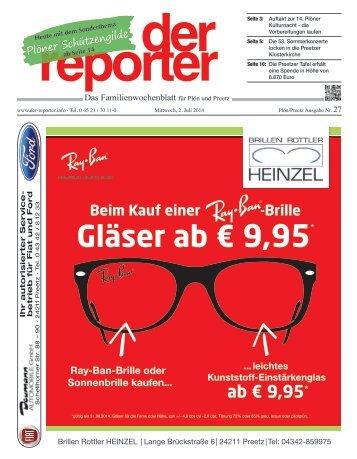 der reporter - Das Familienwochenblatt für Plön und Preetz 2014 KW 27