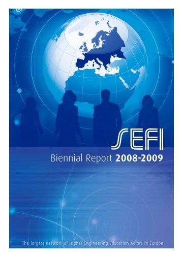 Biennial Report 2008-2009 - SEFI