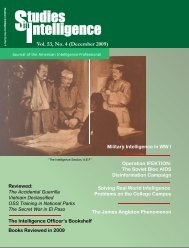 Vol. 53, No. 4 (December 2009) - Central Intelligence Agency