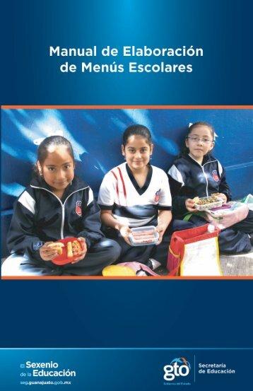 Manual de Elaboración de Menús Escolares