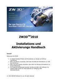 ZW3D 2010 Installations und Aktivierungs Handbuch