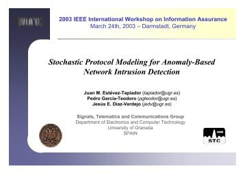 Stochastic Protocol Modeling for Anomaly-Based Network Intrusion ...