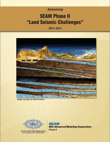 Announcing SEAM Phase II - Society of Exploration Geophysicists