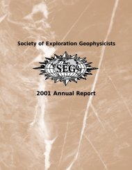 SEG 2001 Annual Report - Society of Exploration Geophysicists