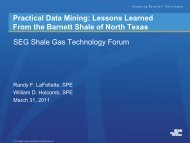 Practical Data Mining: Lessons Learned From the Barnett Shale of ...