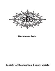 2000 - Society of Exploration Geophysicists