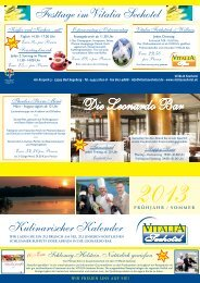 Kulinarischer Kalender - Vitalia Seehotel