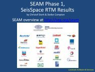 SEAM Phase 1, SeisSpace RTM Results