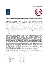 Le centre Beaulieu accueille la marque 64, enseigne de ... - Segece