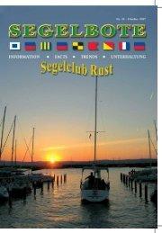 regattasaison 2007 ... regattasaison 2007 - SCR Segelclub Rust