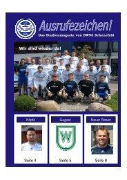 Das Stadionmagazin von BW96 Schenefeld