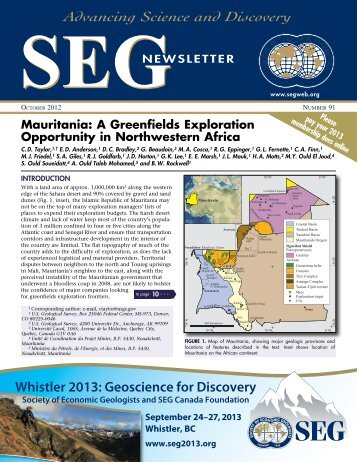 SEG - Society of Economic Geologists