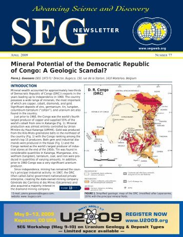 Advancing Science and Discovery - Society of Economic Geologists
