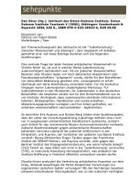 Dan Diner (Hg.): Jahrbuch des Simon-Dubnow ... - Sehepunkte