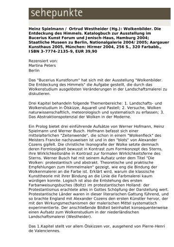 Heinz Spielmann / Ortrud Westheider (Hg ... - Sehepunkte