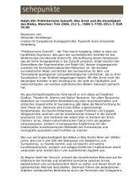 Ralph Ubl: Prähistorische Zukunft. Max Ernst und die ... - Sehepunkte