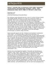 Rainer F. Schmidt: Otto von Bismarck (1815-1898 ... - Sehepunkte