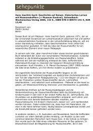 Hans Joachim Gach: Geschichte auf Reisen ... - Sehepunkte