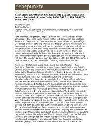 Peter Stein: Schriftkultur. Eine Geschichte des ... - Sehepunkte