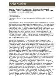 Eberhard Gresch: Die Hugenotten. Geschichte ... - Sehepunkte