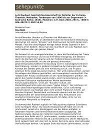 Lutz Raphael: Geschichtswissenschaft im Zeitalter der ... - Sehepunkte