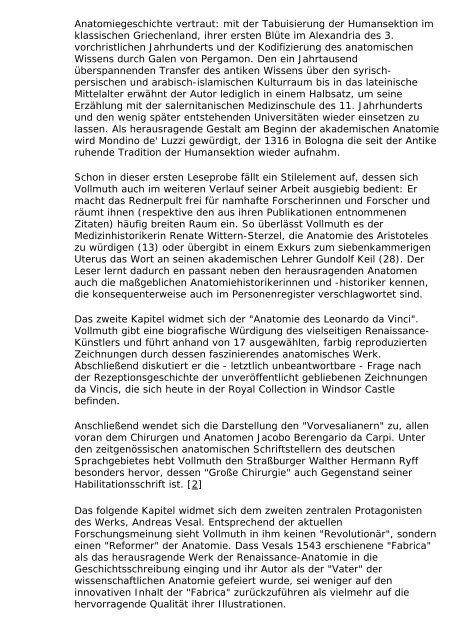 Ralf Vollmuth: Das anatomische Zeitalter. Die ... - Sehepunkte