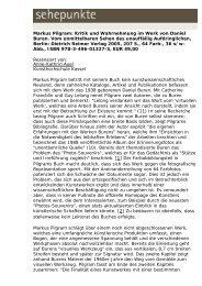 Markus Pilgram: Kritik und Wahrnehmung im Werk ... - Sehepunkte