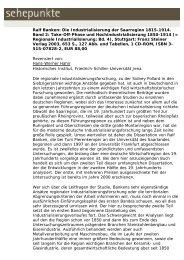 Ralf Banken: Die Industrialisierung der Saarregion ... - Sehepunkte