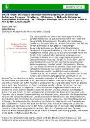 Erhard Hirsch: Die Dessau-Wörlitzer ... - Sehepunkte