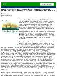 Werner Busch: Caspar David Friedrich. Ästhetik und ... - Sehepunkte