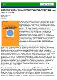 Jürgen Osterhammel / Niels P. Petersson: Geschichte ... - Sehepunkte