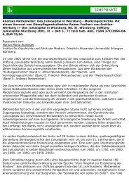 Andreas Mettenleiter: Das Juliusspital in Würzburg ... - Sehepunkte